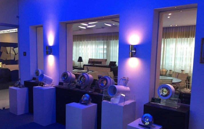 led lighting showroom: cantalupi room