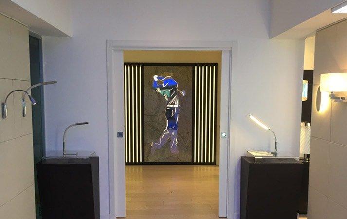 led lighting evolved company showroom: cantalupi italy viareggio