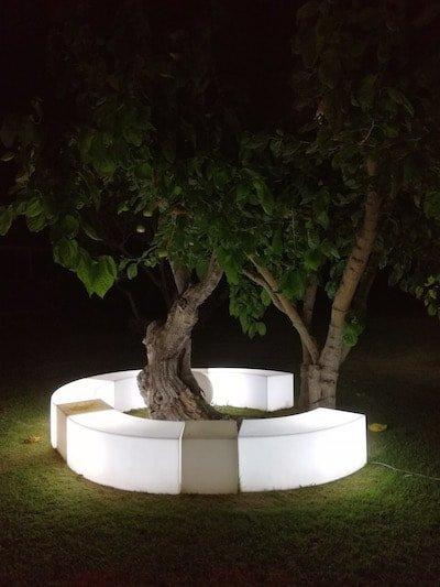 illuminazione design giardino esempio