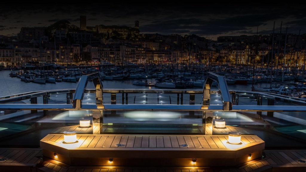 Atlante Cnr yacht Sundeck spa pool lights
