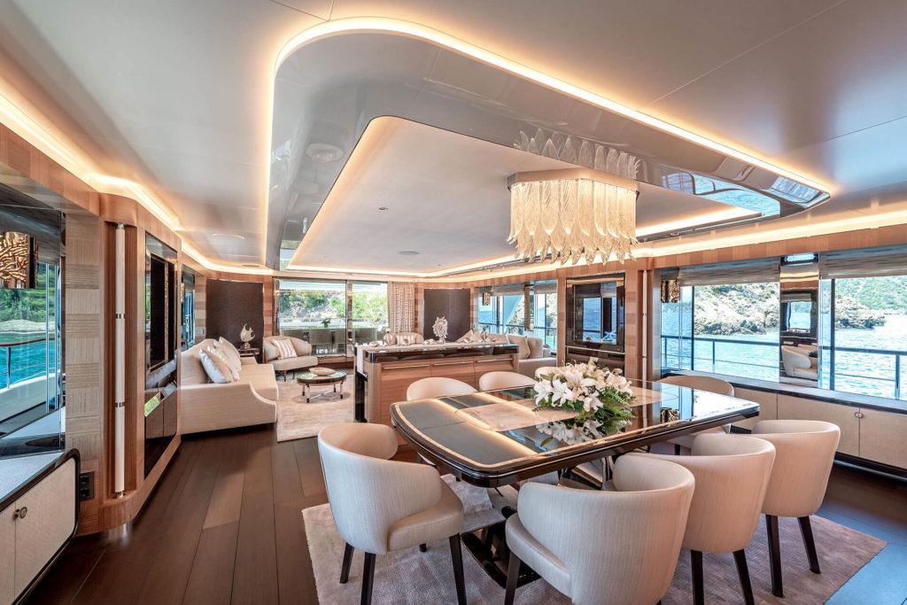 Large Cantalupi Sunrise yacht lights